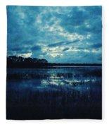 Twilight On The Lake Fleece Blanket