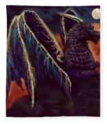 Twilight Storm Dragon Fleece Blanket