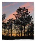 Twilight Tree Silhouettes Fleece Blanket