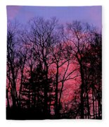Twilight Trees Fleece Blanket