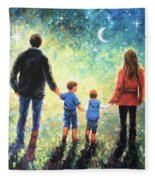 Twilight Walk Family Two Sons Fleece Blanket