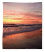 Encinitas Waves Fleece Blanket