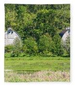 Twin Barns In Spring Fleece Blanket