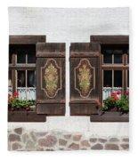 Twin Decorated Windows Fleece Blanket