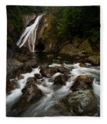Twin Falls Landscape Fleece Blanket