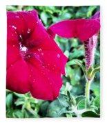 Twin Flower Power Fleece Blanket