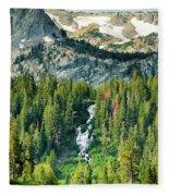 Twin Lakes Waterfall Fleece Blanket