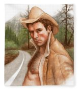 Twin Peaks Cowboy Fleece Blanket