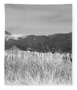 Twin Peaks Rustic Fence Fleece Blanket