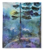 Twin Pines Fleece Blanket