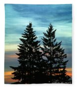 Twin Trees Fleece Blanket