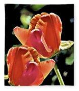 Twin Tulips Fleece Blanket