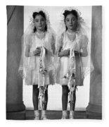 Twins First Communion 2 Fleece Blanket