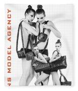 Twins Model Agency Fleece Blanket by ISAW Company