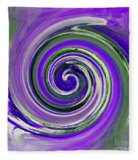 Twirl 02c Fleece Blanket