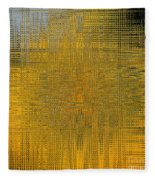 Twirl Art Yellow  Fleece Blanket