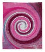 Twirl Pink  Fleece Blanket