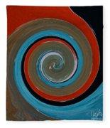 Twirl Red 01 Fleece Blanket