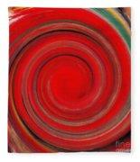 Twirl Red-0951 Fleece Blanket