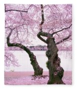 Twisted In Bloom Fleece Blanket