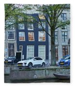 Twisted Panorama. Amsterdam Fleece Blanket