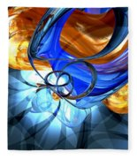 Twisted Spiral Abstract Fleece Blanket
