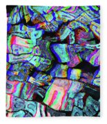 Twisted Text And Colors Fleece Blanket