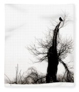 Twisted Tree With Snow Crow Fleece Blanket