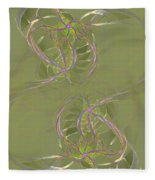 Twists And Turns Fleece Blanket