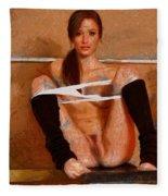 Twisty Girl Fleece Blanket