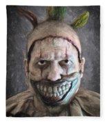 Twisty The Clown Fleece Blanket