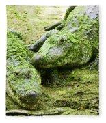 Two Alligators Fleece Blanket