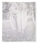Two Angels, 1904  Fleece Blanket