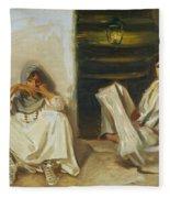 Two Arab Women Fleece Blanket