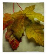 Two Autumn Leaves Fleece Blanket