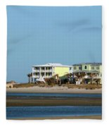 Two Beach Houses Fleece Blanket