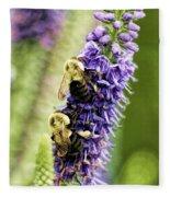 Salvia With Bees Fleece Blanket
