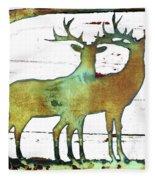 Two Bucks 2 Fleece Blanket