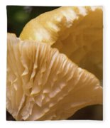 Two Cantharellus Fleece Blanket
