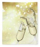 Toast Champagne Glasses Fleece Blanket