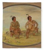 Two Choctaw Indians Fleece Blanket