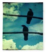 Two Crows Blue Lomo Sky Fleece Blanket
