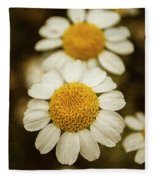 Two Daisies Fleece Blanket