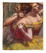Two Dancers Fleece Blanket