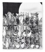 Two Dozen And One Cats Fleece Blanket