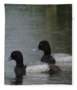 Two Ducks In The Rain Fleece Blanket