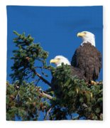 Two Eagles Fleece Blanket