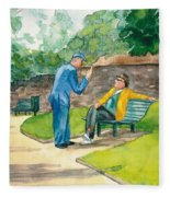 Two Englishmen In Conversation  Fleece Blanket