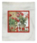 Two Geranium Pots Fleece Blanket
