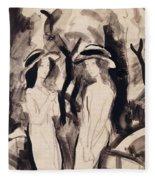 Two Girls Fleece Blanket